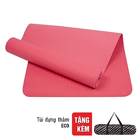 Thảm Tập Yoga 1 Lớp Có Túi Đeo Sportslink TPE TPEECO6L-HO - Hồng (Dày 6mm)
