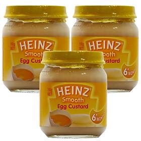 Combo 3 Hủ Custard Sữa Trứng Heinz (110g)