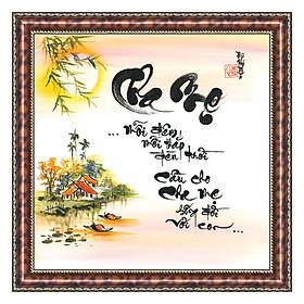 Hình đại diện sản phẩm Tranh Thư Pháp MONG CHA MẸ SỐNG THỌ V44-36 (46 x 46 cm) Thế Giới Tranh Đẹp
