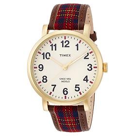 Đồng Hồ Nữ Dây Da Phối Vải Timex Originals Perfectly Plaid TW2P69600