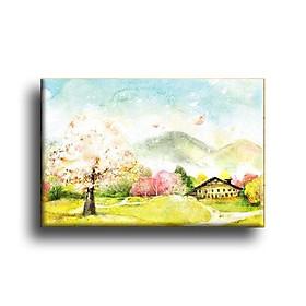 Tranh Canvas Vicdecor TCV0030 Cảnh Sắc Giao Mùa