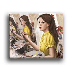 Tranh Canvas Vicdecor TCV0048 Họa Sĩ Trong Tranh