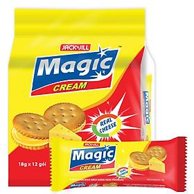 Bánh Quy Magic Cracker Kem Phô Mai (18g x 12)