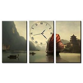 Tranh Đồng Hồ Vicdecor DHT0105 - Thủy Mạc 2