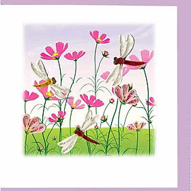 Thiệp Giấy Xoắn Việt Net - Flower 15x15 VN2NN115SBYNN