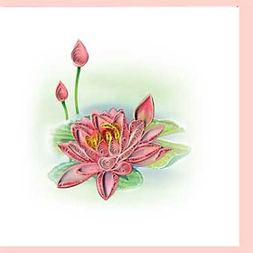 Thiệp Giấy Xoắn Việt Net - Flower 15x15 VN2NN115SIHNN
