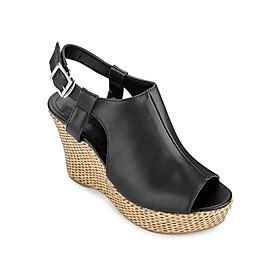 Giày Sandal Đế Xuồng 10cm Up & Go W010-492-BLA - Đen