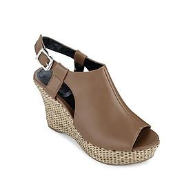 Giày Sandals Đế Xuồng 10cm Up & Go W010-492-BRO- Nâu