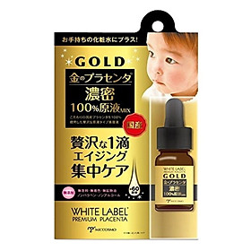 Serum Vàng Và Tinh Chất Nhau Thai Làm Trắng Da Miccosmo White Label Premium Placenta Gold Essence 10ml - WLPPGE