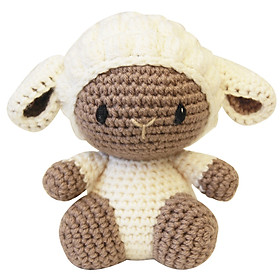 Thú bông Cừu con đực kem ngồi - Bộ màu Bobi Craft WT-132CRE-M-M
