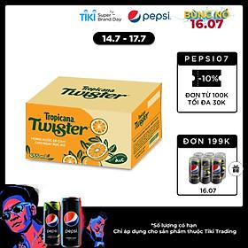 Thùng 24 Chai Twister Cam (455ml / Chai)