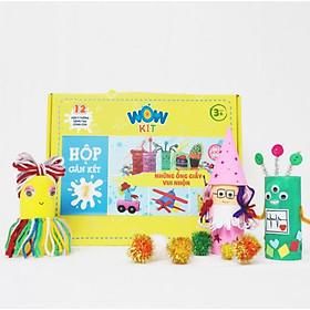 Hộp thủ công sáng tạo Wow Kit: Chủ đề Những ống giấy vui nhộn, giúp bé rèn luyện sự khéo léo của bàn tay, sự tập trung cũng như nâng cao khả năng tư duy sáng tạo, trí tưởng tượng ở trẻ (phù hợp với trẻ từ 3 tuổi trở lên)