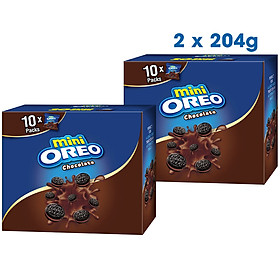 Combo 2 Hộp bánh Oreo Mini Chocolate 204gr