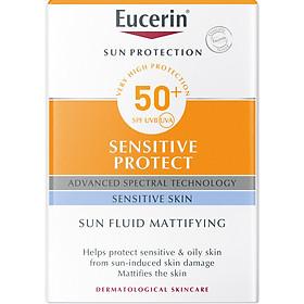 Kem Chống Nắng Không Gây Nhờn Rít Cho Da Thường Và Da Hỗn Hợp Eucerin Sun Fluid Mattifying Face SPF50+ (50ml)