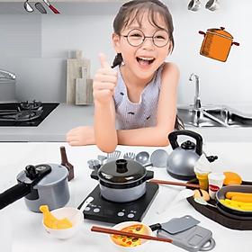 Đồ Chơi Nấu Ăn - Bộ Đồ chơi Nấu Ăn 36 Món Nhà Bếp Cao Cấp tặng kèm Pin