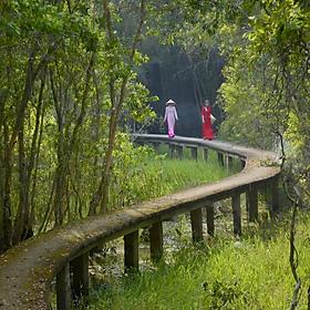 Tour Làng Nổi Tân Lập - Thiền viện Trúc Lâm Chánh Giác - Công Viên Kỳ Quan Thế Giới 01 Ngày, Khởi Hành Chủ Nhật Hàng Tuần