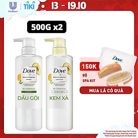 Combo Kem xả và dầu gội Nhật Dove Phục Hồi Tóc Hư Tổn chiết xuất Bơ & Dầu Argan giúp phục hồi và ngăn ngừa gãy rụng 500g