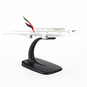 Mô hình máy bay A380 Emirates Airlines (16cm) ( Trắng,Xanh lá,Đen,Đỏ )