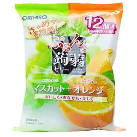 Thạch rau câu Orihiro vị nho xanh và cam ngon mát cho cả gia đình Nội địa Nhật Bản