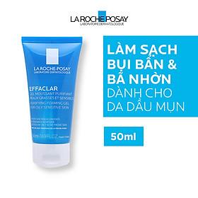 Bộ đôi kem giảm mụn chuyên biệt La Roche Posay Effaclar A.I 15ml và Gel rửa mặt dành cho da dầu mụn Effaclar Gel 50ml