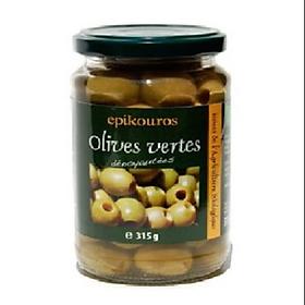 Qủa oliu xanh hữu cơ tách hạt 315g - Epikouros