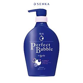 Sữa tắm dưỡng ẩm hương hoa tươi mát Senka Perfect Bubble for Body Floral Plus 500ml