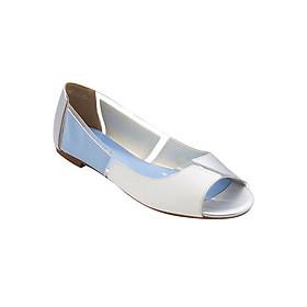Giày Búp Bê Hở Mũi Phối Màu Sulily B01-IV17XANHTRANG