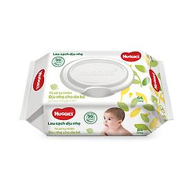 Combo 2 Gói Khăn giấy ướt cho trẻ sơ sinh Huggies không mùi, gói 64 tờ