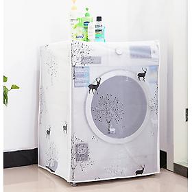 Áo Trùm Máy Giặt Nhựa Dẻo PVC Chống Thấm Dai Khó Rách ( cửa trước)