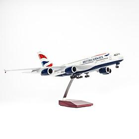 Mô Hình Máy Bay AIRBUS A380 BRITISH AIRWAYS 1:160 EVERFLY (47CM CÓ ĐÈN LED)