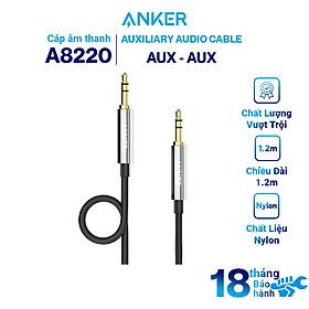 Dây Cáp Âm Thanh AUX 3.5mm Anker 2.4m - A8220011 (Đen) - Hàng Chính Hãng
