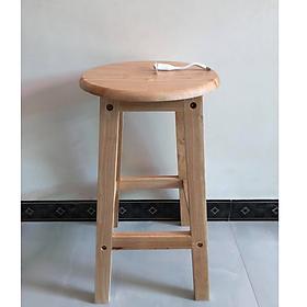 Ghế đôn, ghế đẩu tháo ráp gỗ tự nhiên VIMOS- Tặng kèm quạt USB (quạt màu ngẫu nhiên)