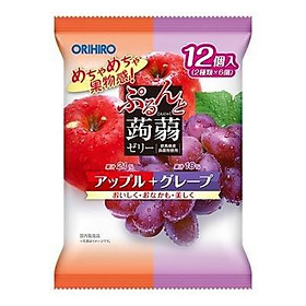 Thạch túi Orihiro vị táo và nho thơm ngon tự nhiên - Nội địa Nhật Bản