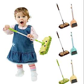Bộ chổi và cây lau giúp trẻ làm việc nhà