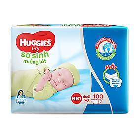 Miếng lót sơ sinh Huggies Newborn 1 - 100 miếng (dưới 5 kg)