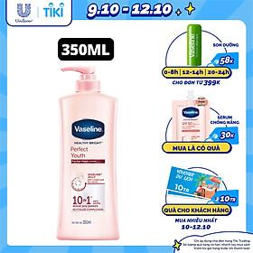 Sữa Dưỡng Thể Vaseline Trắng Da Điểm 10 (350ml)