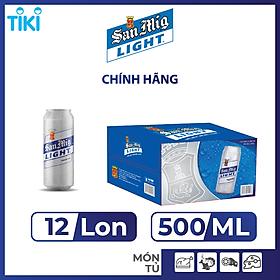 Thùng 12 Lon Bia SAN MIGUEL Light 500 ml