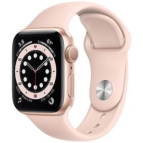 Đồng Hồ Thông Minh Apple Watch Series 6 GPS Only Aluminum Case With Sport Band (Viền Nhôm & Dây Cao Su) - Hàng Chính Hãng VN/A