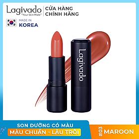 Son lì có dưỡng lên môi màu chuẩn, lâu trôi Hàn Quốc Lagivado Lip Satin dạng thỏi 3.5 gram -  có 5 màu son
