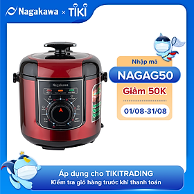 Nồi Áp Suất Điện Nagakawa NAG0205 (6.0 Lít) - Hàng Chính Hãng