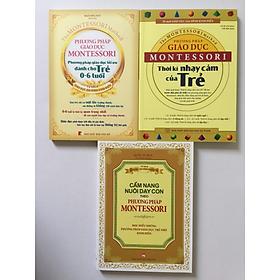 Combo Phương Pháp Giáo Dục Montessori: Thời Kỳ Nhạy Cảm Của Trẻ + Phương Pháp Giáo Dục Tối Ưu Dành Cho Trẻ 0-6 Tuổi + Cẩm Nang Nuôi Dạy Con Theo Phương Pháp Montessori
