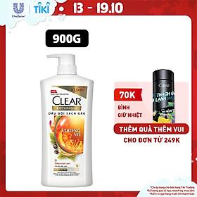 Dầu Gội 900g Clear Botanique 9 Thảo Dược Quý Cho Da Đầu Yếu 3X Sức Mạnh Đánh Bay Gàu Nhờn Ngứa