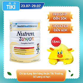 Sản phẩm dinh dưỡng y học NUTREN JUNIOR lon 800g - TẶNG Gối choàng cổ con hươu
