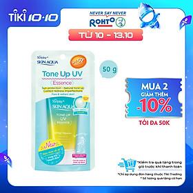 Tinh chất chống nắng nâng tông dành cho da dầu/hỗn hợp Sunplay Skin Aqua Tone Up UV Milk (Mint Green) (dành cho da sáng, có khuyết điểm đỏ) (50g)