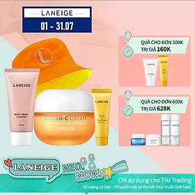 Kem dưỡng trắng da làm mờ đốm nâu Laneige Radian - C 30ml + Tặng Bộ chống nắng bảo vệ làn da LANEIGE