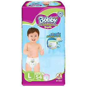 Tã Quần Bobby Gói Siêu Lớn L54 (54 Miếng)
