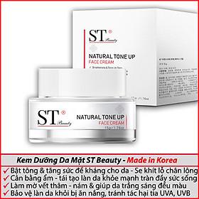 Kem Dưỡng Da Mặt ST Beauty: Dưỡng & Bật Tông Da- Làm Mờ Vết Thâm Nám - SPF 50+ PA+++ - Make Up - ST Beauty NATURAL TONE UP Face Cream – Made in Korea