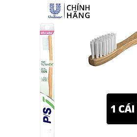 Bàn chải đánh răng P/S Tre Tự Nhiên với cán cầm bằng tre tự nhiên 100% và lông chải siêu mềm chải sạch răng và nướu