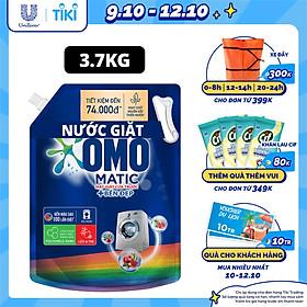 Nước giặt Túi 3.7kg OMO Matic Cho máy giặt cửa trước Cửa Trước Bền Màu Bền màu tinh chất Lựu Tre