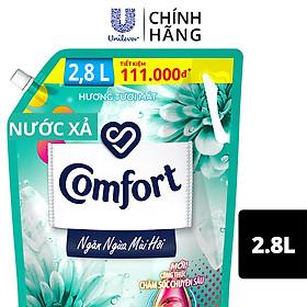 Nước Xả Vải Comfort Giữ Màu & Bền Vải Ngăn Ngừa Mùi Hôi, Một Lần Xả Hương Tươi Mát túi 2.8L